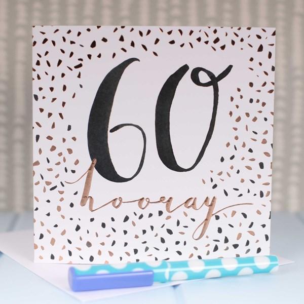 60 hooray rose gold luxe birthday card 60 hooray rose gold luxe birthday card bookmarktalkfo Image collections