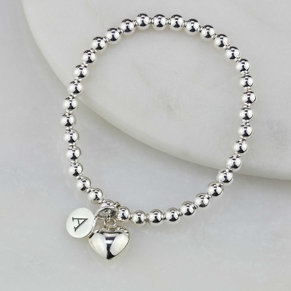 9f4929459a Personalised Children's Solid Silver Heart Bracelet