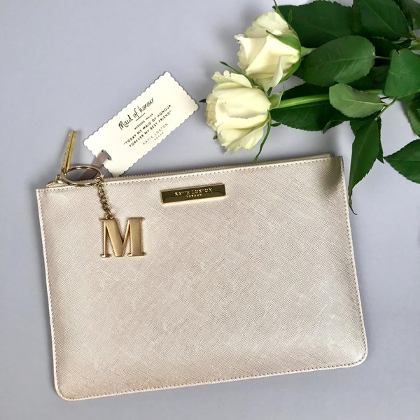 fae4ac8c29e Katie Loxton Personalised 'Maid Of Honour' Secret Saying Pouch