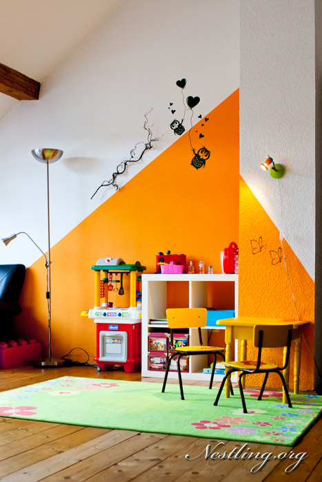 Kinderzimmer orange