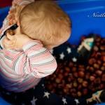 Herbstliche Spielidee: Kastanienbad