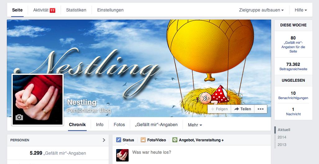 Nestling.org Facebookseite