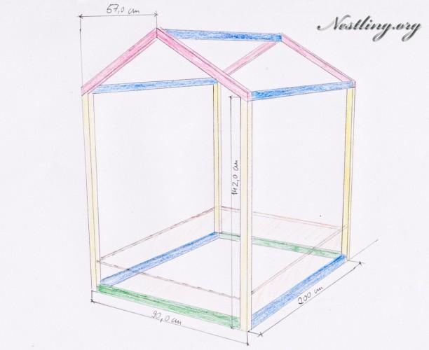Kinderbett selber bauen  Bodenbett für Kinder (Floor Bed) selber bauen - Nestling