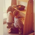 Spielbereich nach Montessori für Geschwisterkinder