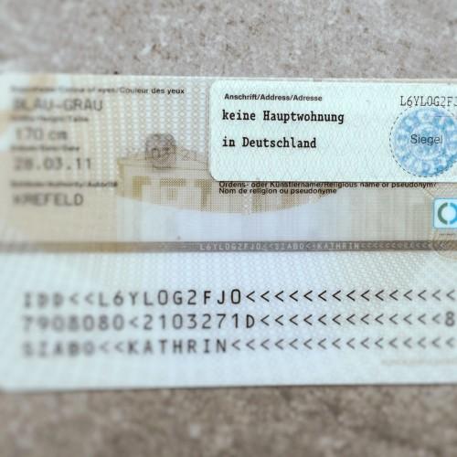 Kein Hauptwohnsitz in Deutschland