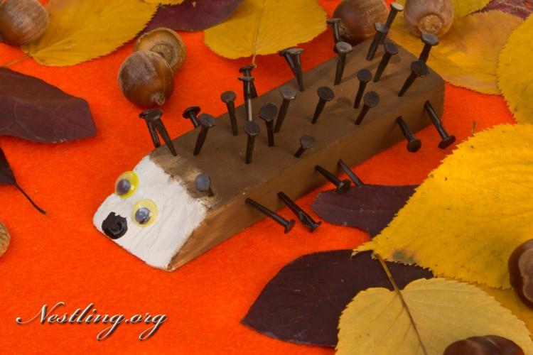 Holz-igel-basteln