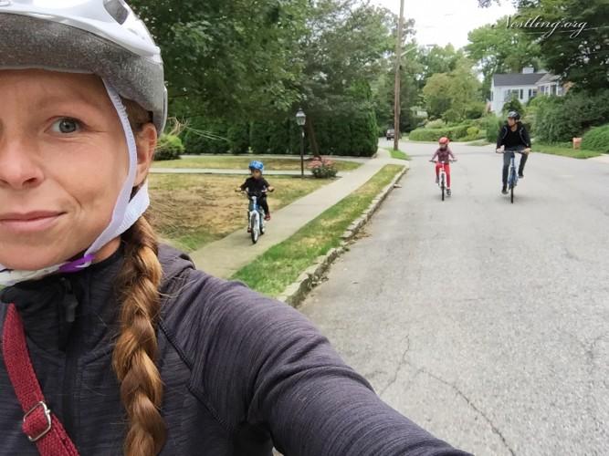Fahrrad-Familie