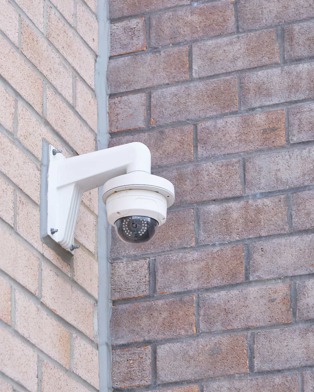 dome camera on wall mount bracket