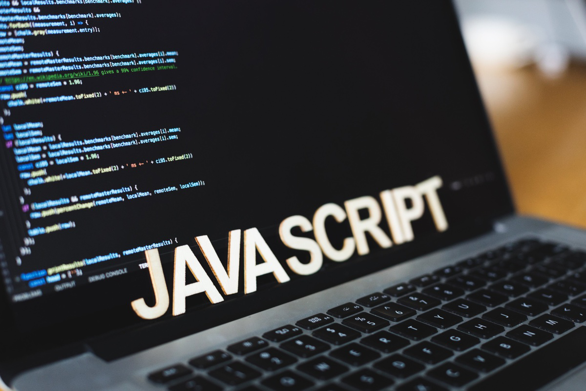 laptop with code and javascript