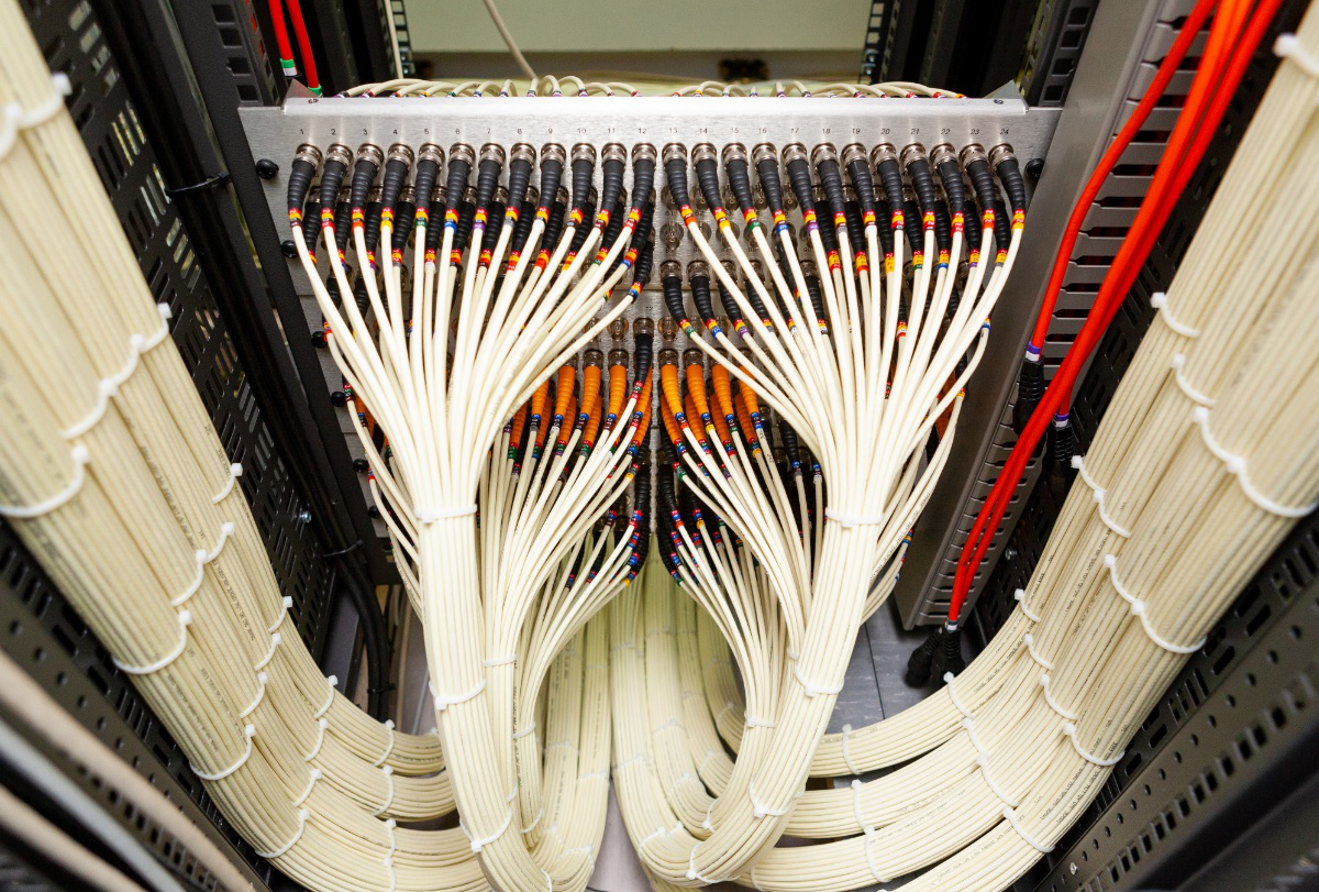 neat structured cabling into patch panel
