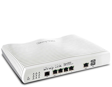 DrayTek Vigor 2832 Triple-WAN ADSL2/2+ Router Firewall with 4 Gigabit