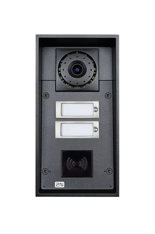 2N Helios IP Force: 2 Buttons, Camera & 10w Speaker (RFID Ready)