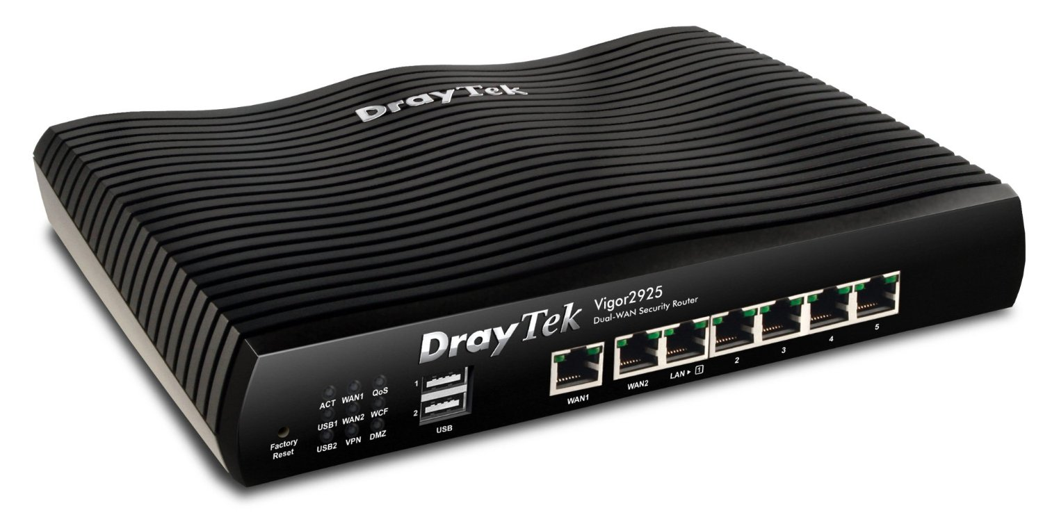 DrayTek Vigor 2925 Dual Ethernet-WAN Router with SSL VPN & WLAN