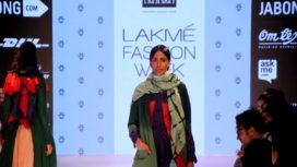 Karishma Shahani Khan's Tasselled Scarves Make a Statement at LFW WF'15