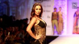 Malaika Arora Khan walks for Mandira Wirk at AIFW AW 16