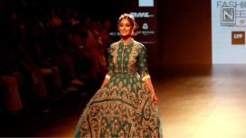 Ileana D'cruz Walks for Rahul Mishra at LFW S/R '16