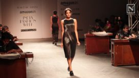 Surface Texturing in Metal & Plastic by Rimzim Dadu at AIFW A/W 16