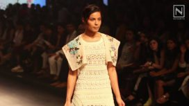 Marble Carving on Silhouettes by Sahil Kochhar at LFW S/R 16