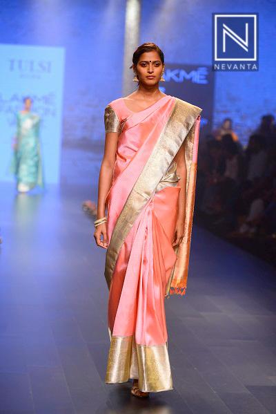 Powder pink Kanjeevaram from Tulsi Silks