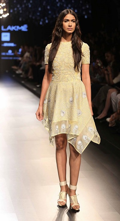 Go cool and casual in a summer dress by Rahul Mishra @ LFWSR15