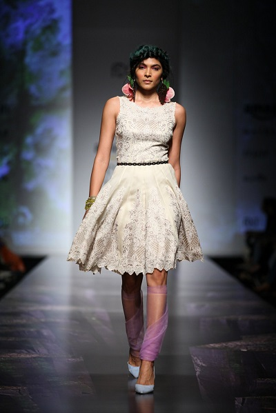 Skater dresses add a feminine touch to your wardrobe @ Paras and Shalini @ AIFW SS16