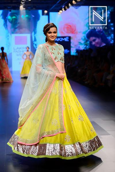 Pastels and florals are the regal combination from Anushree Reddy