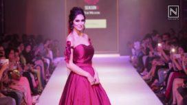 Bruna Abdullah walks for Nitya Bajaj at Pune Fashion Week 2016