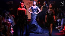 Lara Dutta for Eshaa Amiin at Lakme Fashion Week WF 2016