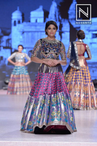 Benaresi lehenga with mirrored blouse from Manish Malhotra