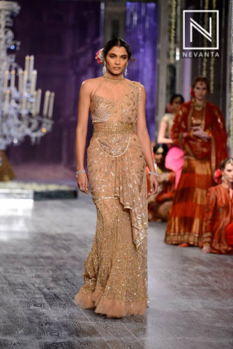 Shimmered saree-gown from Tarun Tahiliani @ICW'16