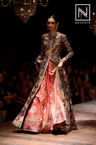 Heavily embroidered gown from Sabyasachi @LFWW/F'16