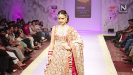 Sana Khan Walked For Dimple Mehta at BFW 2017