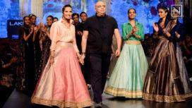 Padma Lakshmi Walks for Tarun Tahiliani at Lakme Fashion Week SR 2017