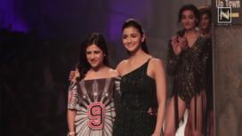 Alia Bhatt Turns Muse for Namrata Joshipura at Amazon India Fashion Week AW 2017