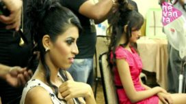 In the Green Room for Riyaz and Reshma's Show
