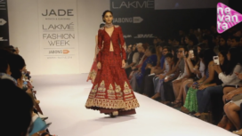 Indo-Western Bridal Wear Inspired from Temples
