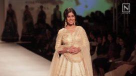 Sakshi Tanwar Walks for Anju Modi at Amazon India Fashion Week 2017