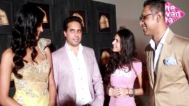 Sarah Jane Dias with Designer Shantanu and Nikhil at Blenders Pride Fashion Tour
