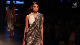 Designers Experiment with Sari Draping This Season