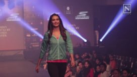 Karishma Tanna walks for Skechers at India Luxury Style Week 2017