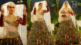 Meet the Royal Bride Dia Mirza in Anju Modi at India Couture Week 2017