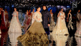 Alia Bhatt and Ranveer Singh Walk for Manish Malhotra at India Couture Week 2017