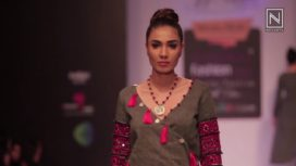 Aishwarya Tyagi at Bangalore Fashion Week Winter Festive 2017