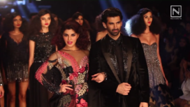 Jacqueline Fernandez and Aditya Roy Kapur Walks for Manish Malhotra at Lakme Fashion Week WF 2017