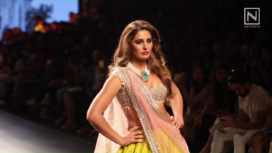 Nargis Fakhri Walks For Anushree Reddy At Lakme Fashion Week Winter Festive 2017