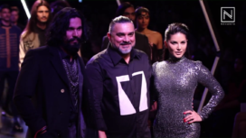 Sunny Leone and Randeep Hooda Walks For Splash at Lakme Fashion Week WF 2017