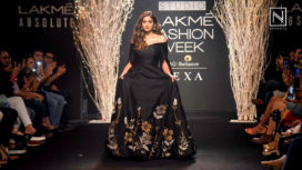 Illeana D'Cruz Walks for De Belle at Lakme Fashion Week Winter Festive 2017