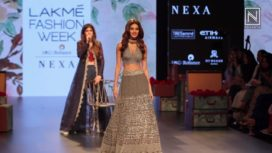 Nidhhi Agerwal Turns Showstopper for Amoh by Jade at Lakme Fashion Week WF 2017