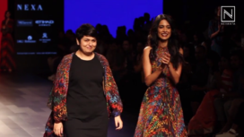 Sarah Jane Dias Turns Muse for Urvashi Joneja at Lakme Fashion Week Winter Festive 2017