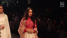 Shraddha Kapoor Showstops for Rahul Mishra at Lakme Fashion Week WF 2017